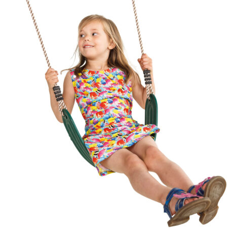 Flexible wraparound swing seat