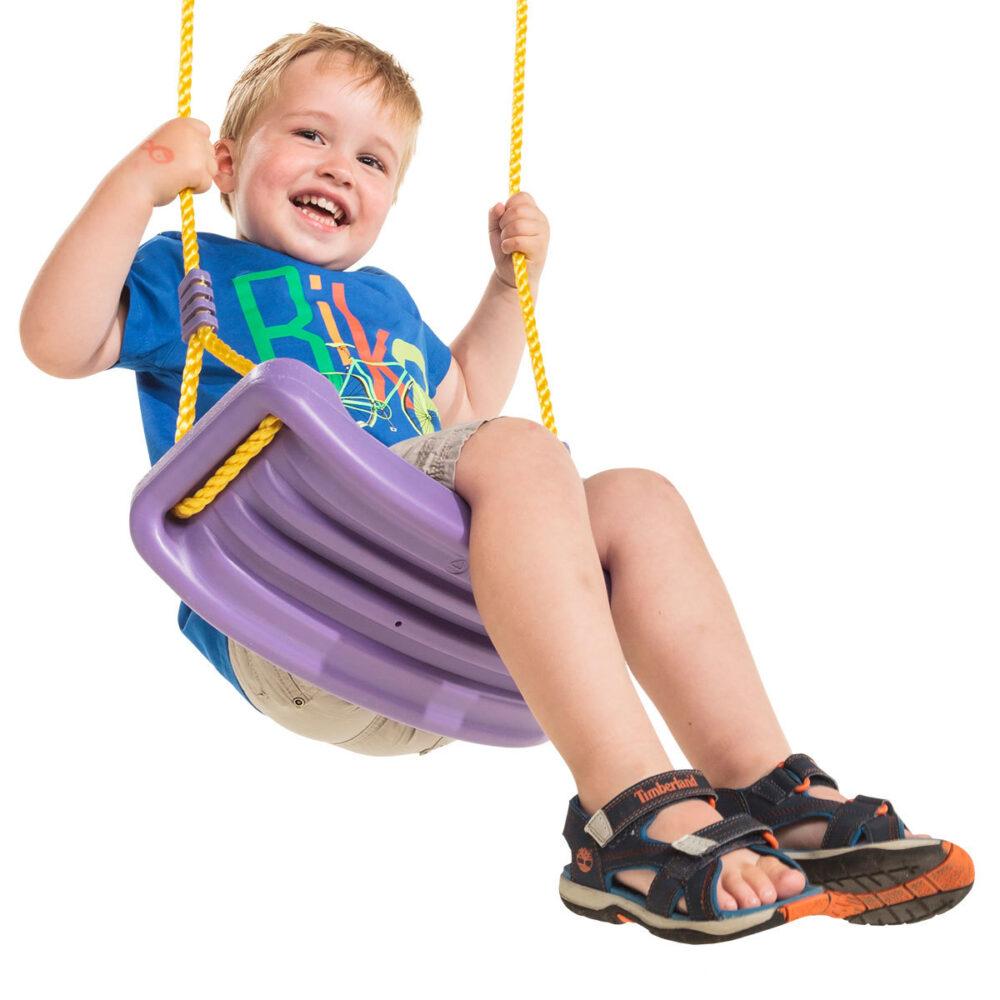 Plastic blowmoulded swing seat