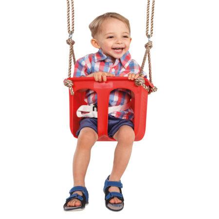 Rigid plastic baby seat