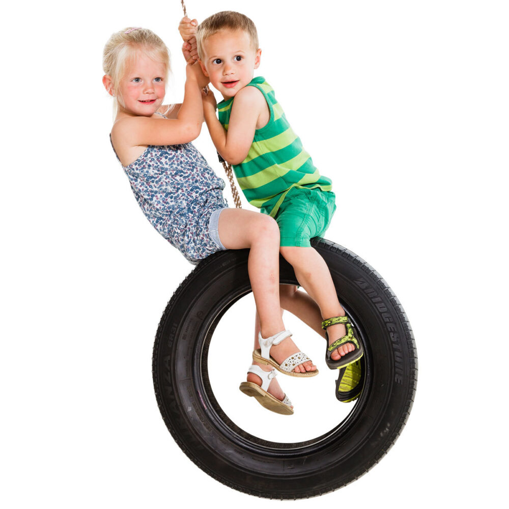 Tyre swing vertical